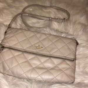 Kate Spade Leather Crossbody Cream Good Condition